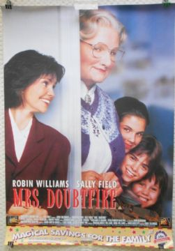 Mrs Doubtfire, Commercial Film Poster, Robin Williams, Sally Field, '93 (F)